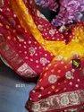 Designer Banarasi Bandhej Sarees