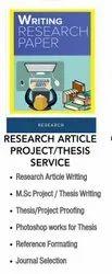Scientific Research Article Publication