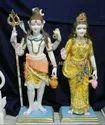 Marble Standing Shiv Parvati Moorti