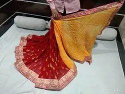 Pure Bandhej Pallu
