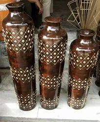 Wooden Handicraft Flower Pots Set