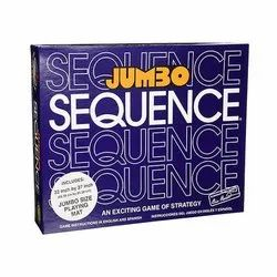 Board Game Plastic Jumbo Sequence, Child Age Group: 8