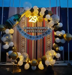 Birthday Decoration In round Balloons stand, in Nashik