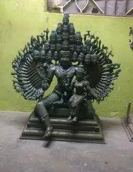 Bronze Samba Sadashiva 25 Head 50 Hands - Master Craftsmanship