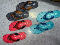Blue Chocolate And Red Mens Slipper, Packaging Type: Box