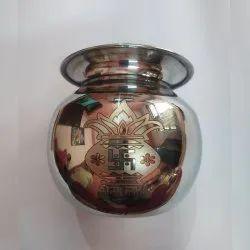 Original Round Pooja Lota, For Home, Size: 9