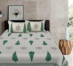Screen printed double bedsheet