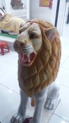 White Marble Lion Statue 3 Feet