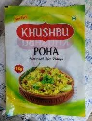 Plastic Poha Packing Pouch, Size: 1kg