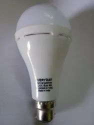 Round Plastic 9w Ac Dc Rechargeable Led Bulb