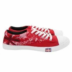 Canverse Red Canvas Shoes, Size: 7