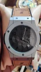 Men Round Hublot Watch, For Daily