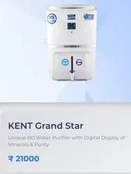 Wall Mounted White Kent Grand Star water purifier with display, Capacity: 15L