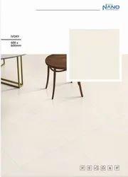 Ceramic Gloss Soluble Salt Nano Ivory, Thickness: 8 - 10 mm, Size: 600x600