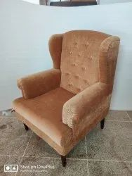 Wooden Sofa Chairs, For Home, Back Style: High Back