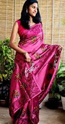 Tussar Silk Hand Cutwork & Embroidery Work Sarees