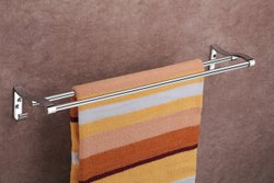 Alluminium Cp Finish SS Towel Hanger