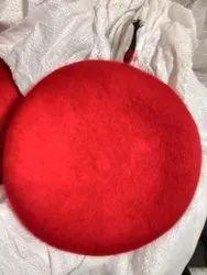 Red Woolen Beret Cap, Size: Large