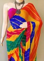 Chiffon Multicolour Lehriya Saree