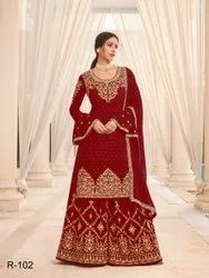 Casual Wear Palazzo Pakistani Georgette Suits