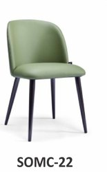 Modern Leather And Wooden SOMC-22 Designer Chair, For Cafe