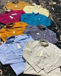 Cotton Collar Neck Mens Party Wear Plain Shirt, Size: M L XL XXL