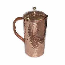 Metal Plain Copper Water Jug, For Home, Capacity: 1 Liter