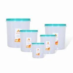Plastic Transparent Containers Set, Weight: 1555 Gram