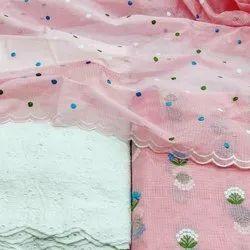 aala creation unstiched Kota doriya suits, Dry clean