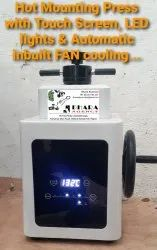 Metallographic Mounting Press With Touch Screen Display & LCD Display
