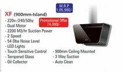 Xf Island Filter Less Kraft XF-900 (Island), 90 Cm, Suction Capacity(m3/hr): 1300