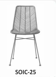 Sunny Overseas Silver SOIC-25 Cafe Iron Chair, Seating Capacity: 1 Person