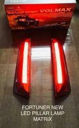 Rectangle Red Fortuner 2018-2021 Pillar Light in Matrix