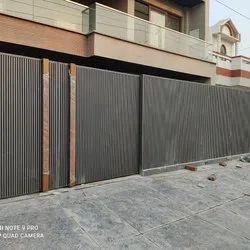 Manual Black Stainless steel aluminum profile sliding gate, For Home