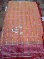 Khatushyam Creation Party Wear Summer Special Gottapatti Kota Cotton Sarees, With Blouse, 6.3 M