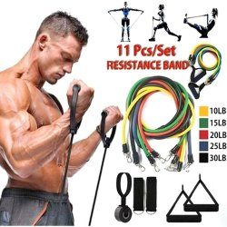 11 Pc Resistance Band Set