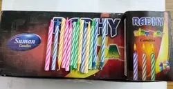 Multicolor Cylindrical Radhy Suman Candle