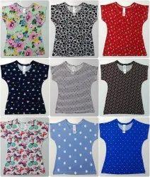 Girls Printed Cotton Top