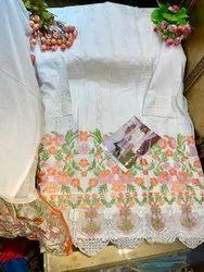 zarqash Cambric Cotton Pakistani Party Wear Suits