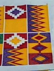 Chain Stitch Embroidery Kente Fabric