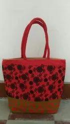 Short Cotton Padded Zipper Jute Fashion Bags, Capacity: 5 Kg