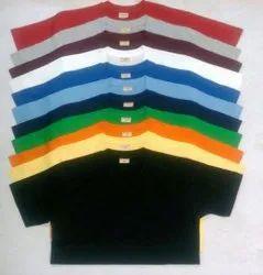 Round Half Sleeve Plain Cotton T Shirt
