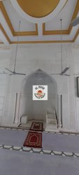 Carved White Masjid Qibla