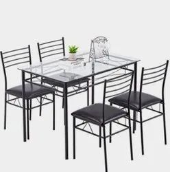 Glass Top Metal Dining Table
