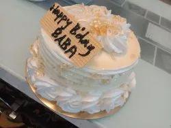 Pineapple Round Kaju Malai Cake, For Birthday Parties, Packaging Type: Box