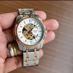Metal Golden Tissoot Automatic Watch For Men, Size: Regular, Model Name/Number: Tissot Autimatic