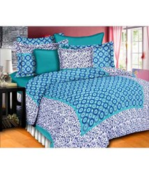 Floral Printed Cotton Double Bed Sheet With Pillow Covers