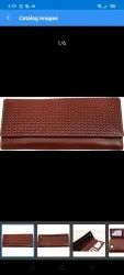 Clutch bag Brown Pure Leather Ladies Purse