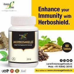STONE AGE - ' HERBOSHEILD ' Immune Booster Tablets, Non prescription