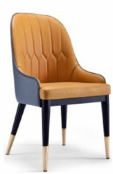 Leather And Wooden Restaurant Chair, Seating Capacity: 1 Person